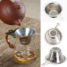 Ситечко для заварки чая из нержавеющей стали подходит для чайник для заварки листьев фильтры кухонные принадлежности