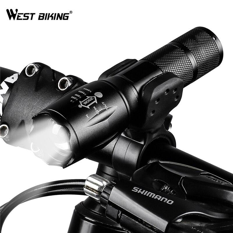 4000 lumen T6 LED Fahrrad Licht Zoomable Fahrrad Taschenlampe Aufladbare Power Versorgung 18650/AAA Vorne Radfahren Scheinwerfer Lampe