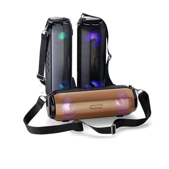 휴대용 블루투스 스피커 야외 다기능 저음 총 스트랩 온 컬러 램프 무선 블루투스 카드 사운드|AI 스피커|가전제품 -