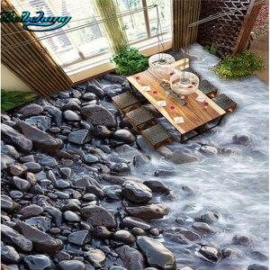 Beibehang Grande papel de parede personalizado murais de parede banheiro 3D grossa à prova d' água wearable ladrilhos de pedra do rio