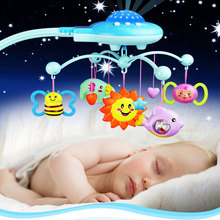 Baby Love IFSO 601-3 Musical Baby Bed Bell. Baby Rattles with 50 Music, 360 Degrees Rotate Star lights baby toys for 0-12 Month