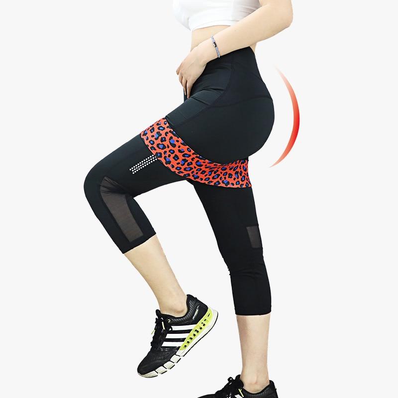 Gedruckte Leoparden-Hüftwiderstandsbänder Beutebein-Gummibänder - Fitness und Bodybuilding
