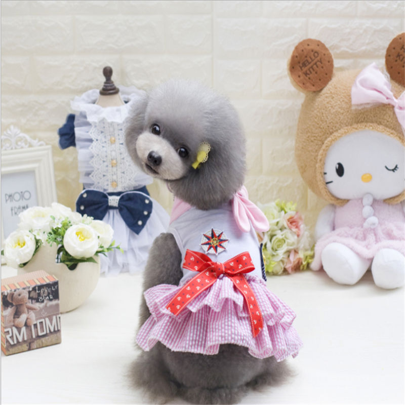Summer Dog Skirt Casual Pet Clothing for Small Medium Dogs Puppy Yorkies Chihuahua Dog Clothes in Dog Coats Jackets from Home Garden