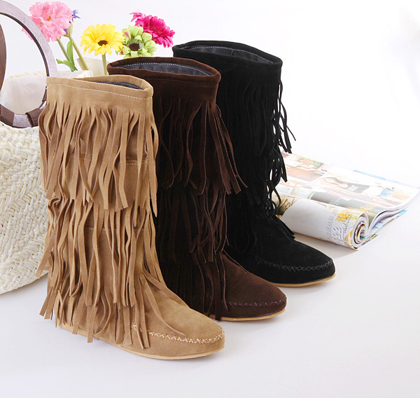 Popular Leather Flat Slouch Boots-Buy Cheap Leather Flat Slouch ...
