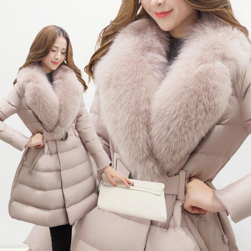 Le Haut Fourrure Taro Renard Longues Coton Gamme Vers Survêtement A999 Épaississent D'hiver Col En Veste Farine Mode Femmes Bas Flour De Chaude Manteau qtPwXtA
