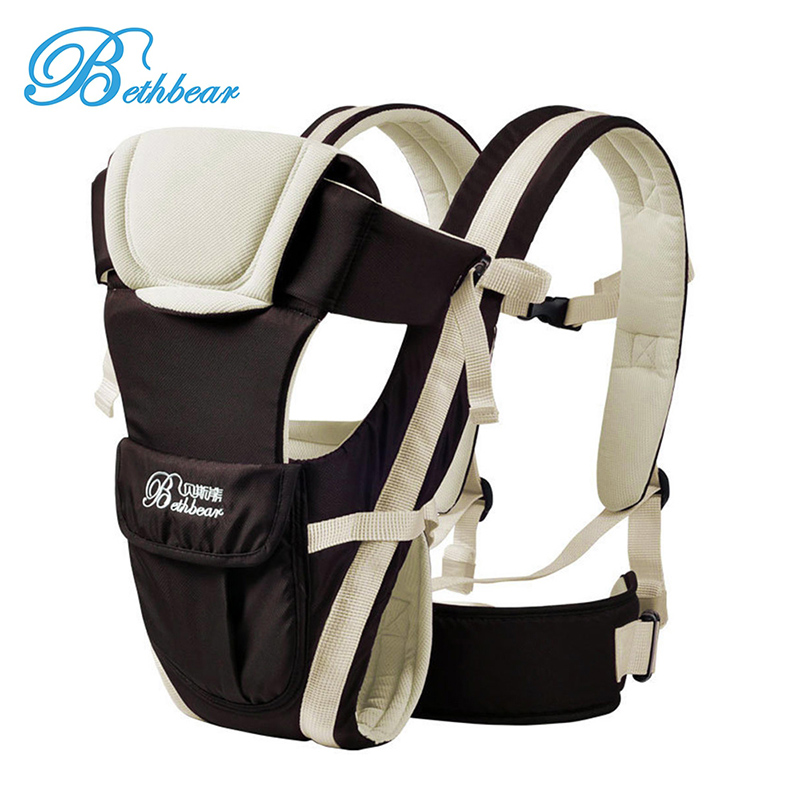 New Beth Bear 0-30 Months Breathable Front Facing Baby Carrier 4 in 1 Infant Comfortable Sling Backpack Pouch Wrap Baby Kangaroo free shipping 4 in 1 soft structured baby carrier 15 colors baby carrier 15 kinds baby sling baby pouch
