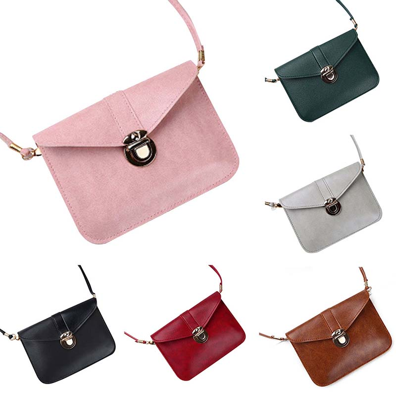 2019 Women Pu Shoulder Bag messenger bags women leather Female Casual Mini messenger bag in Shoulder Bags from Luggage Bags