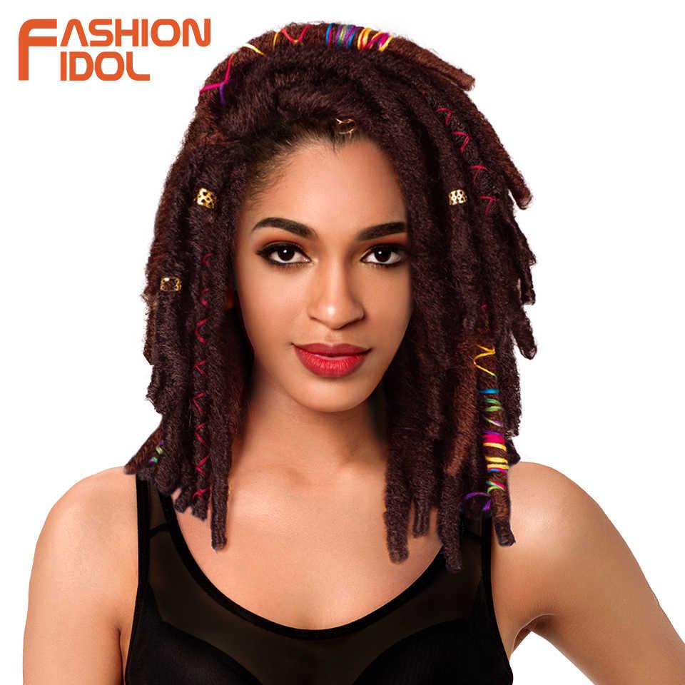 Иконы стиля 12 дюймов 12 нитей искусственные локоны в стиле Crochet косы инструменты для завивки волос Синтетические косички, мягкий, наращенные волосы на крючке, бордовый черное волокно