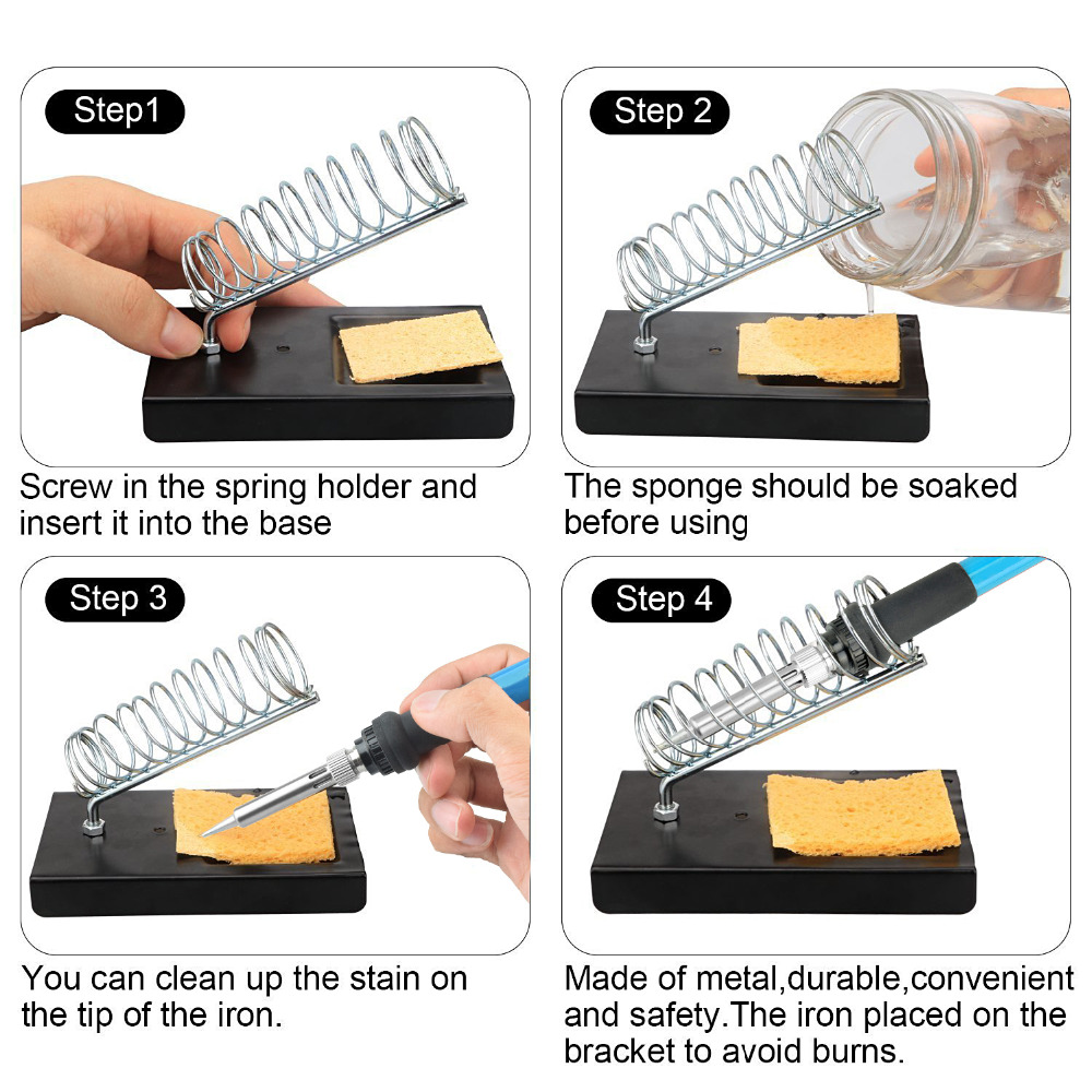 Soldering Iron Frame Metal Support Tip Stand Holder Iron Soldering Welding Tool