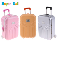 1:6 Scale Fashion Suitcase Travel Luggage Cases for 18inch Doll, 16inch 40-60 Doll Trunk