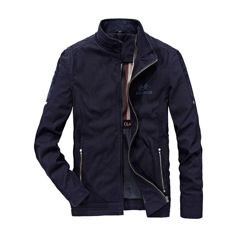 2019 veste hommes casual coton coupe-vent vestes hommes militaire Outwear vol veste grande taille 4XL hommes Trench poche manteaux