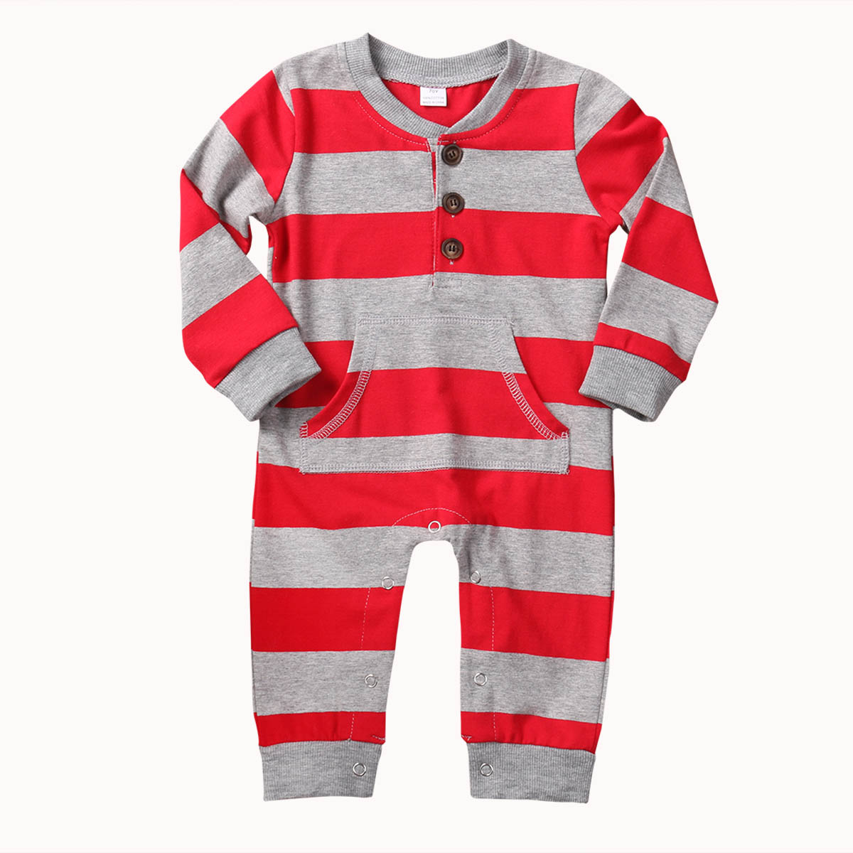 New Style Christmas Cotton Toddler Baby Boy Girls Clothes Long Sleeve Romper With Pocket Playsuit Baby Clothing
