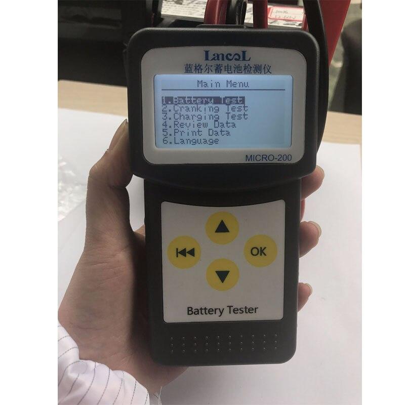 Lancol fábrica 200 com ferramentas automotivas da bateria do carro para carros bateria analisador tester bateria vida da bateria do carro multi-línguas