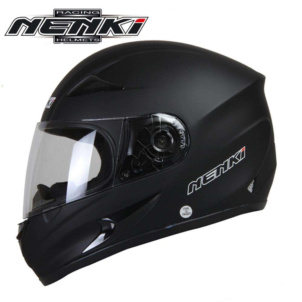 ФОТО NENKI Full Face Motorcycle Helmet Capacete da Motocicleta Cascos Moto Casque Kask 816f Racing Riding Men Women Helmet with Scarf