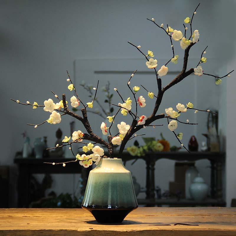 De Goedkoopste Prijs Jingdezhen Moderne Nieuwe Chinese Keramische Vaas Creatieve Woonkamer Tv Wijnkast Bogu Thuis Eenvoudige Decoratie Ornamenten Vaas 30