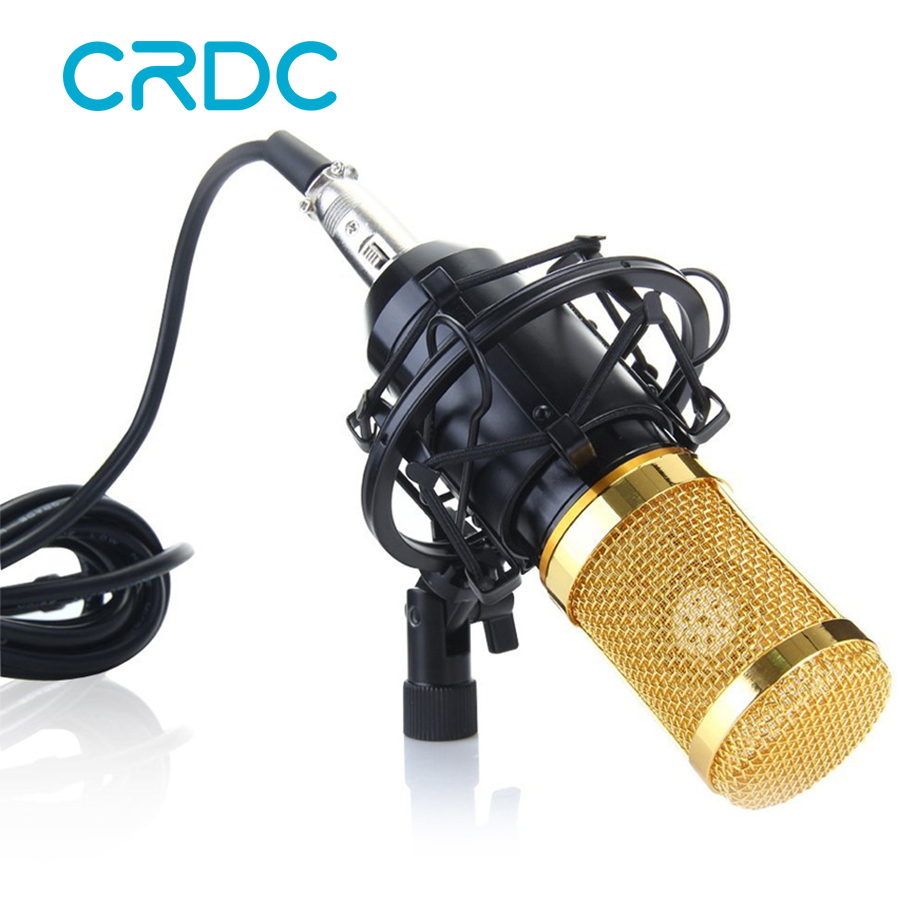 CRDC TOP-Quality BM-800 Condenser Microphone Professional 3.5mm With Shock Mount Mic For Computer Video Recording Studio BM 800 bm 800