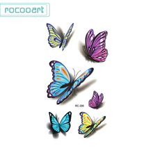 2pcs 3D Butterfly Temporary Tatoo Stickers Face Finger Taty Body Makeup Sexy Fake Flash Tattoos Sticker