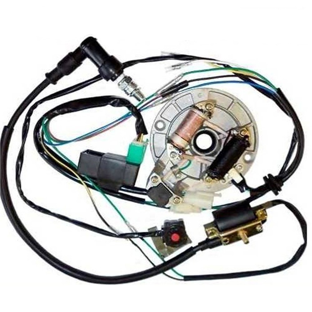 Moto Engines 50 125cc Kick Start Dirt Pit Bike Wire Harness Wiring ...