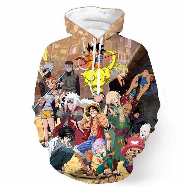 Anime Gang Hooded Sweatshirts