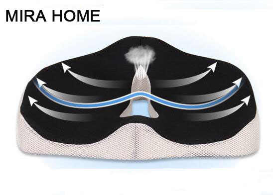 Health Max Coccyx Orthopedic Memory Foam Seat Cushion Best For Relief Of Back Pain Tailbone Pain And Sciatica Medical