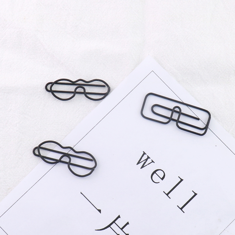 TUTU (Price/20 Clips) Officeship Glasses Shaped Paper Clips Funny Kawaii Bookmark Office School Stationery Marking Clips H0161