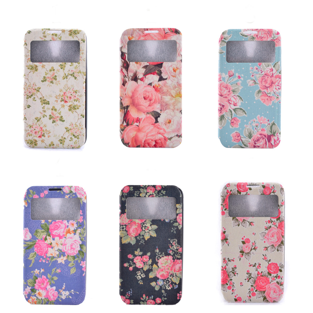 premium selection e074b 92bce US $2.87 |For Samsung S4 Case, Flower Prints Premium PU Leather Case Flip  Case Cover for Samsung Galaxy S4 Girl 's Fashion Phone Case on ...
