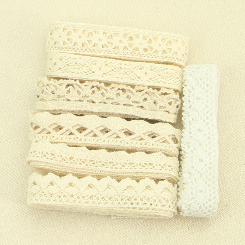 HTB1Lfo2eJLO8KJjSZPcq6yV0FXas 4YARD Apparel Sewing Fabric DIY Ivory Cream Black Trim Cotton Crocheted Lace Fabric Ribbon Handmade Accessories Craft 11021
