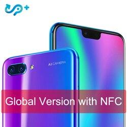Original Global version Huawei Honor 10 4G 128G 4G LTE Smartphone 3D Curved Glass Kirin 970 AI Processor 5.8 inch Google play