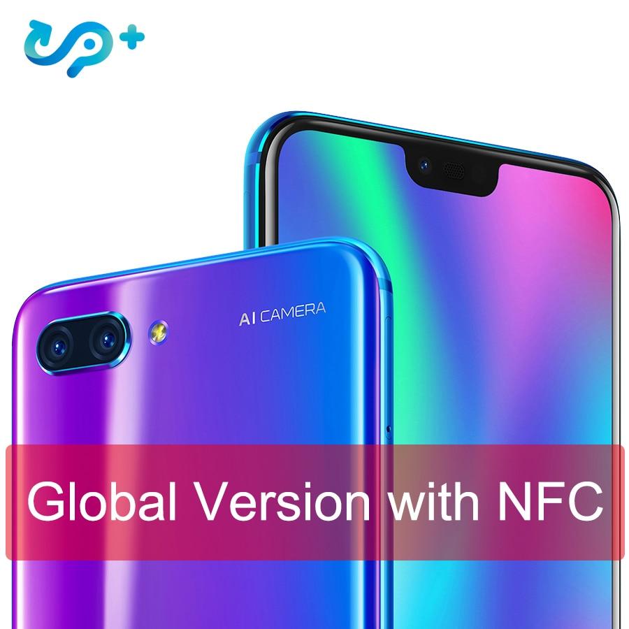 Originale Globale versione Huawei Honor 10 4G 128G 4G LTE Smartphone 3D Vetro Curvo Kirin 970 AI processore da 5.8 pollici Google play
