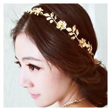TTLIFE Gold Color Leaves Flower Hairband Hair Accessories 2019 Wedding Bridal Headband Women Head Ornament Ladies Hairs Jewelry