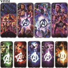 Marvel Avengers Iron Man Luxury Captain America Case Etui For Huawei P30 Pro P20 Lite Mate 20 lite 9 10 P10 Coque