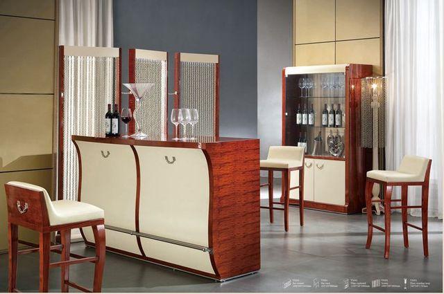 Italian Design Home Furniture Bar Set Table Chair Wine Cabinet Modern Living Room