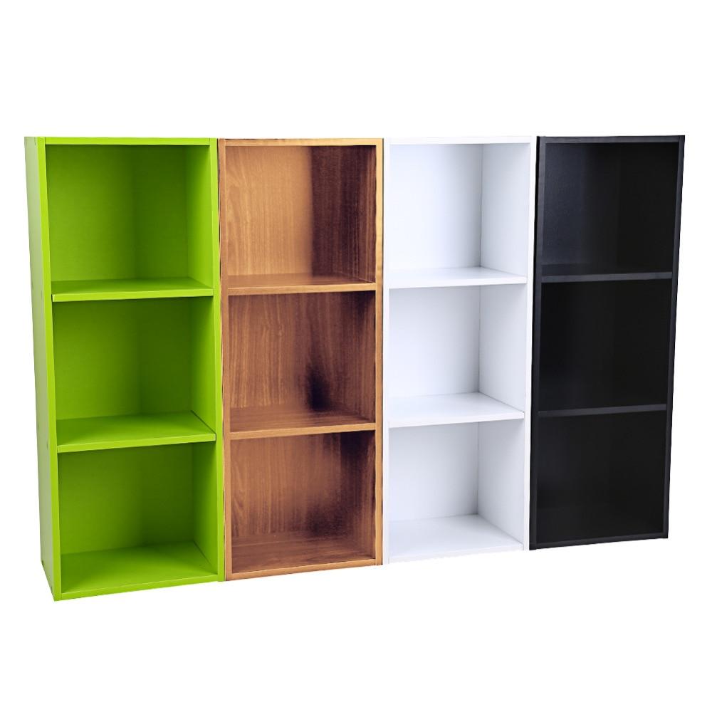 Brief Multifunction Wooden Bookcase Shelf Standing Book Shelves Storage Wood Cabinets Display Rack 1 2