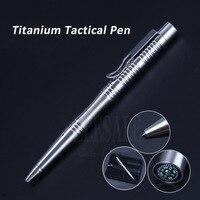 Высокое качество Самозащита титановая тактическая ручка с компасом Вольфрамовая стальная головка для стеклянного выключателя ручка такти...