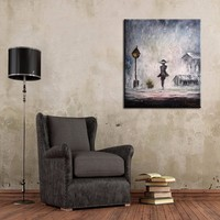 Oil Painting Village Factory Wholesale High Quality Landscape On Canvas Beautiful Gary Landscape For Living Room Wall Art