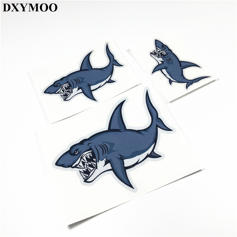 3 sizes Fish Shark Water Sports Diving Car Stickers Motorcycle Helmet Bike Decal Vinyl Bumpers black kayak boating water sports helmet abs out shell prefessional water skiing helmet