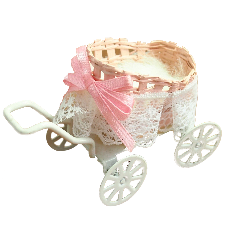 Кукольная Миниатюра 1:12 игрушка Металл Детские коляски Длина 9 см