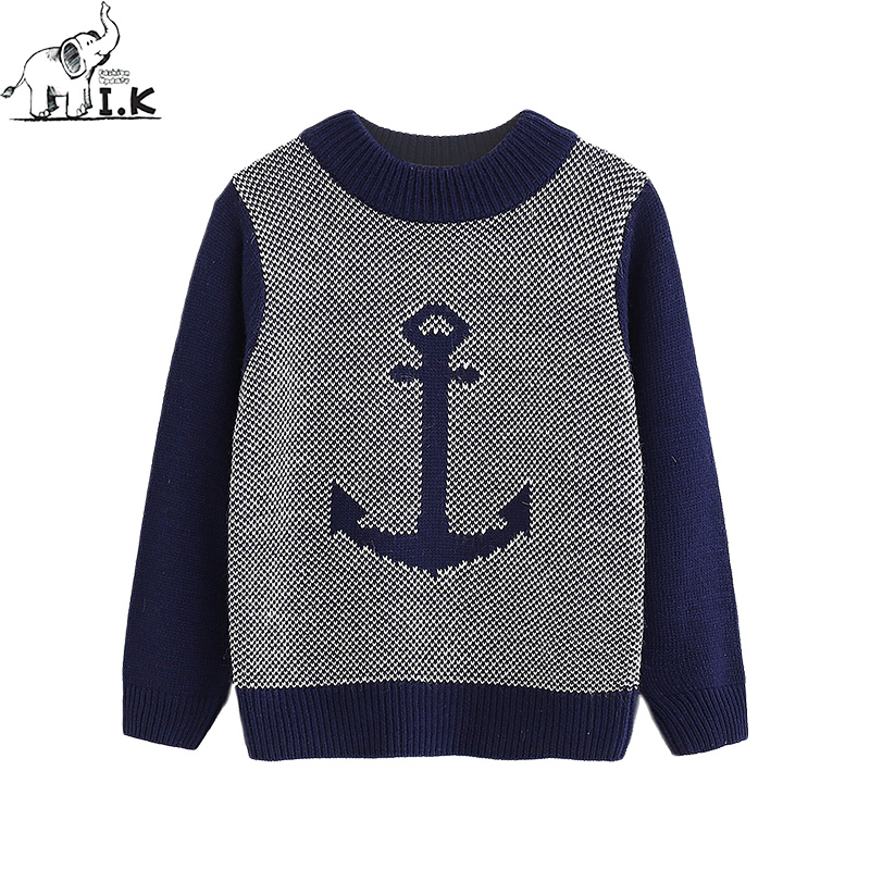 d9fdc689e96e Ik toddler boys sweater baby kids knitting wear infant casual anchor ...