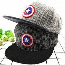 Handsom gorras de béisbol para niños niñas niños gorra de béisbol de  capitán americano bordado sombrero hip-hop cómodo niño somb. 2e895d04bc2