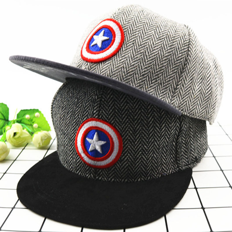 Handsom   Baseball     Caps   For Kids Boys Girls Children's   baseball     Cap   American Captain Embroidered Hip-hop Hat Comfortable Boy Hat