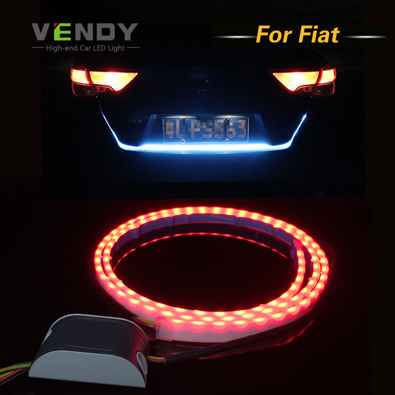 Car LED Rear Trunk Tail Dynamic Streamer Warning Lights DRL For FIAT 500 Punto Stilo Palio Bravo Ducato Doblo 500X,500L car styling tail lights for toyota highlander 2015 led tail lamp rear trunk lamp cover drl signal brake reverse
