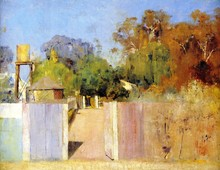 Unframed Canvas Prints - The Old Barracks At Collendina - By Tom Roberts