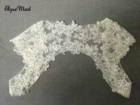 Neue Ankunft Schals Braut Wraps 2018 Weiß Elfenbein Chiffon Spitze Hochzeit Boleros Braut Jacken Nach Maß