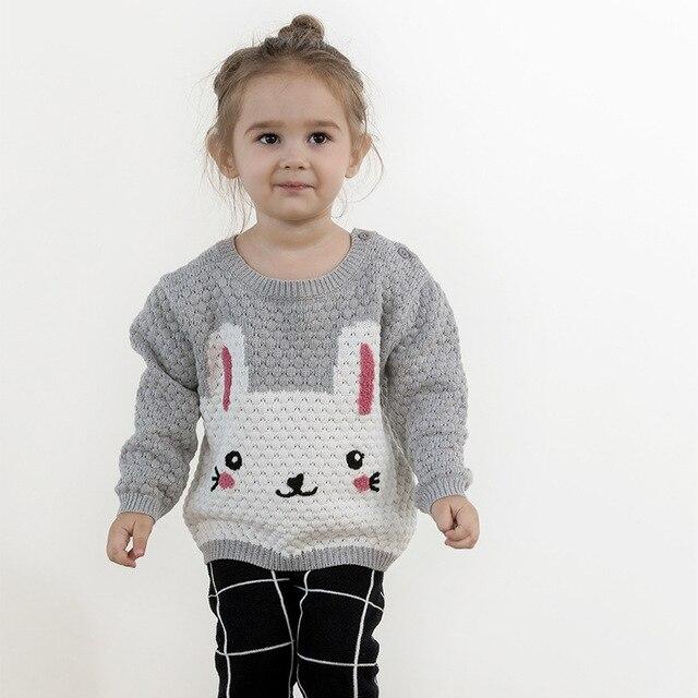 ec1905f4b 2017 Autumn Kids Sweater Children s Girls Cute Rabbit Knit Cardigan ...