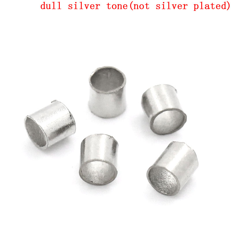 DoreenBeads Alloy Crimp Beads Round Silver Tone 1.1mm 2mm(1/8)Dia,400 PCsDoreenBeads Alloy Crimp Beads Round Silver Tone 1.1mm 2mm(1/8)Dia,400 PCs