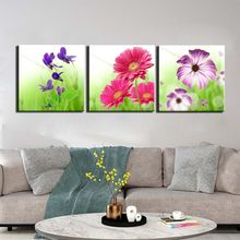 Posters and Prints Painting Abstract flower Pictures Wall Art for Living Room Home Decor Canvas Art 3 Piece Set Framed(China)