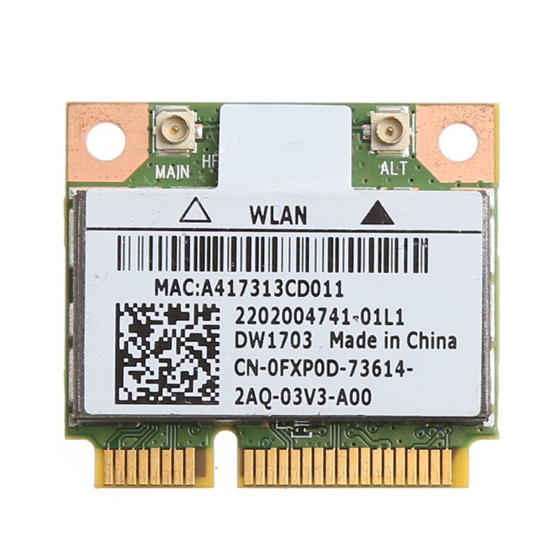 2019 New Bluetooth V4.0 Wifi Wireless Mini PCI-Express Card For Atheros AR5B225 DELL DW1703 CN-0FXP0D