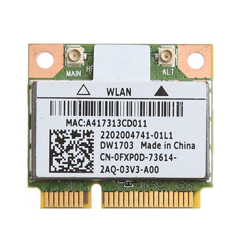 2019 nuevo Bluetooth V4.0 Wifi inalámbrica Mini PCI-Express tarjeta para Atheros AR5B225 DELL DW1703 CN-0FXP0D