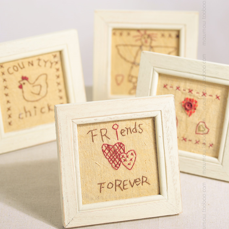 Favourite New Arrivals 4 Pieces/lot Home Table Decor Wood Picture Frames Square Frame Gift for Friend