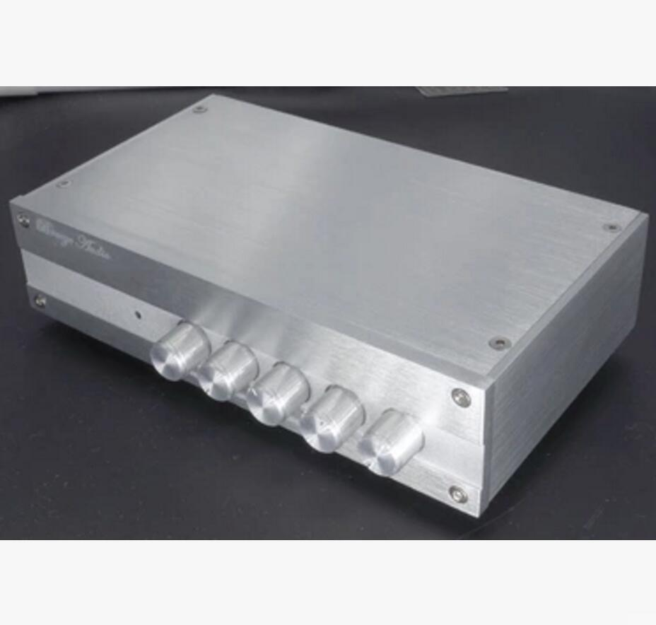 new TPA3116 5.1 surround sound 6 channel SW 100W+50W*5 Amplifier Tone Adjust Amp in aluminum case free shipping
